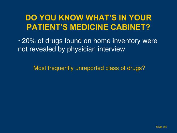 Do you know what's in your patient's medicine cabinet?