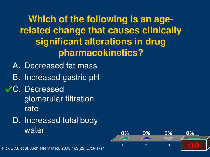 Which of the following is an age-related change that causes clinically significant alterations in drug pharmacokinetics?