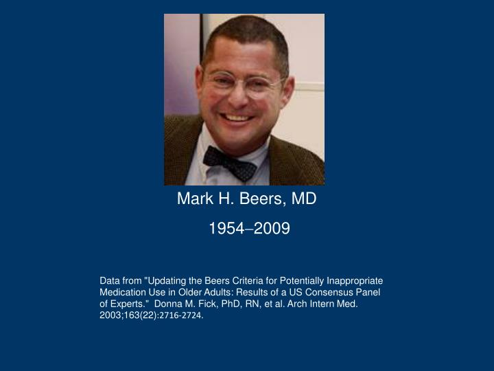 Mark H. Beers, MD
