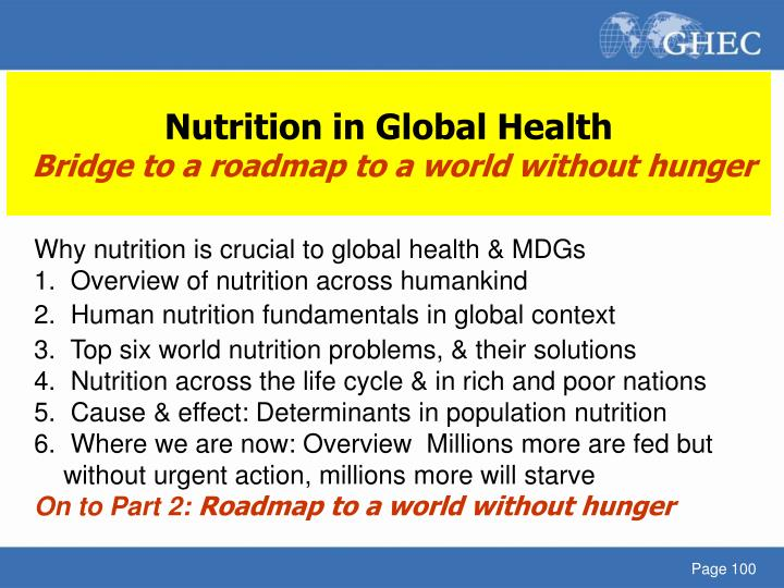 Nutrition in Global Health