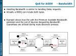 qos for aodv bandwidth