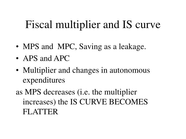 Fiscal multiplier and IS curve