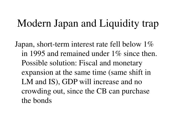 Modern Japan and Liquidity trap