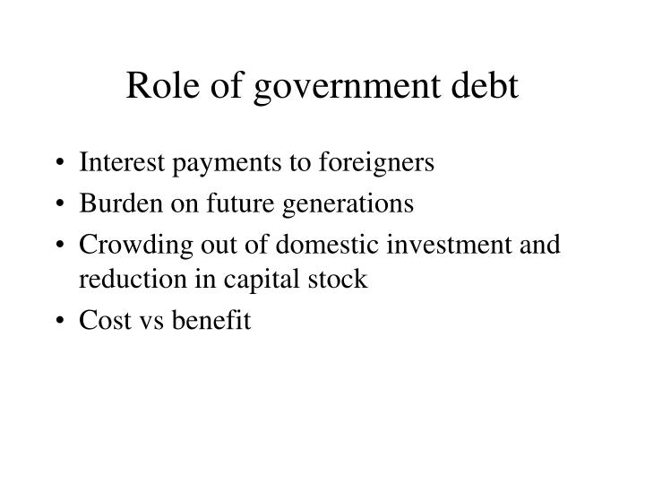 Role of government debt