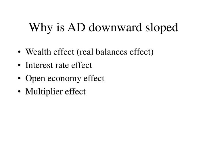 Why is AD downward sloped