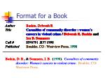 format for a book