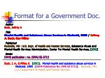 format for a government doc