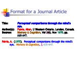 format for a journal article