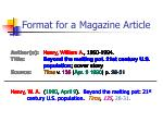 format for a magazine article