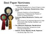 best paper nominees