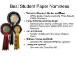 best student paper nominees