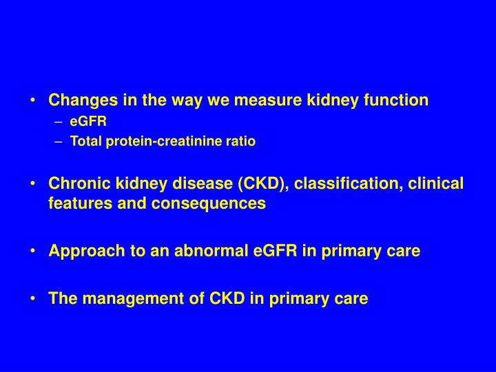 Changes in the way we measure kidney function