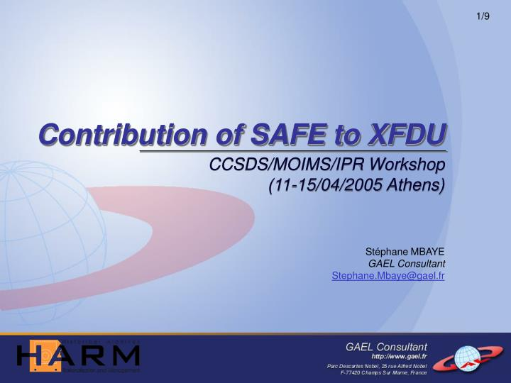 Contribution of safe to xfdu