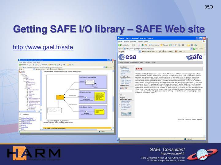 Getting SAFE I/O library – SAFE Web site