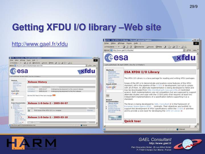 Getting XFDU I/O library –Web site