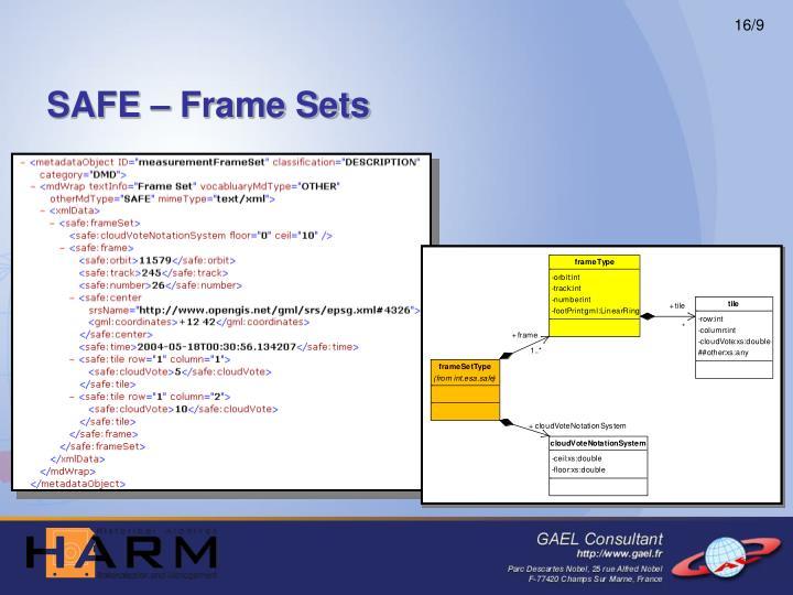 SAFE – Frame Sets