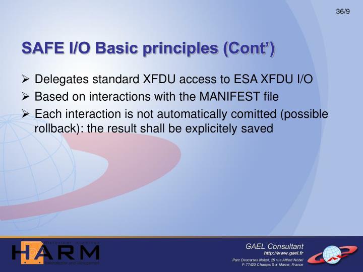 SAFE I/O Basic principles (Cont')