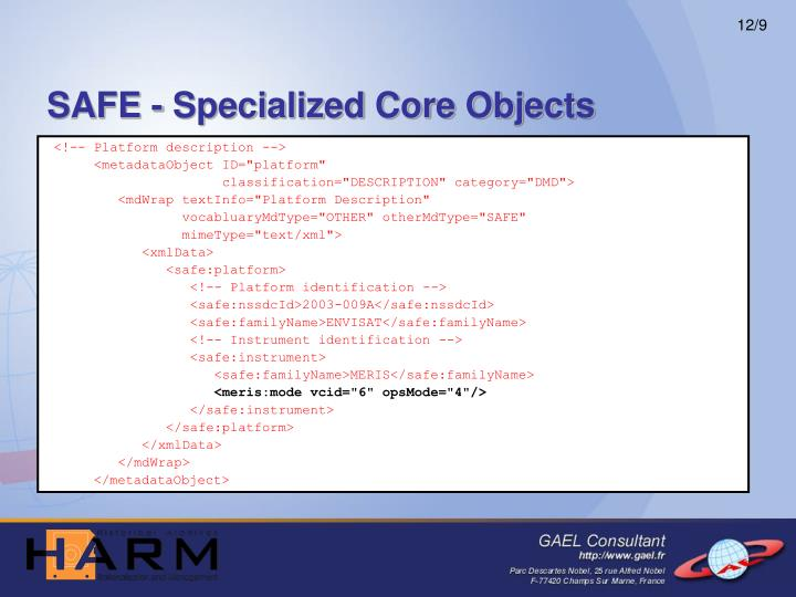 SAFE - Specialized Core Objects