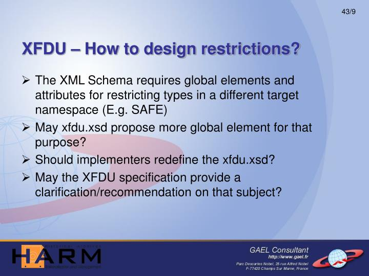 XFDU – How to design restrictions?