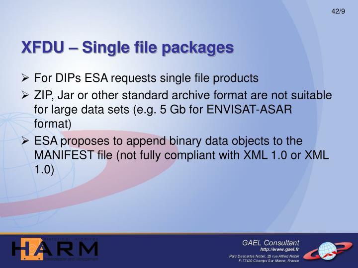 XFDU – Single file packages