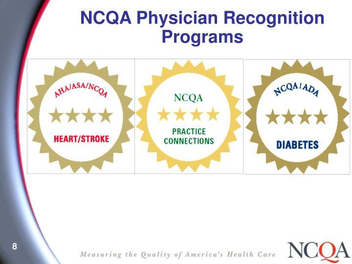 NCQA Physician Recognition Programs