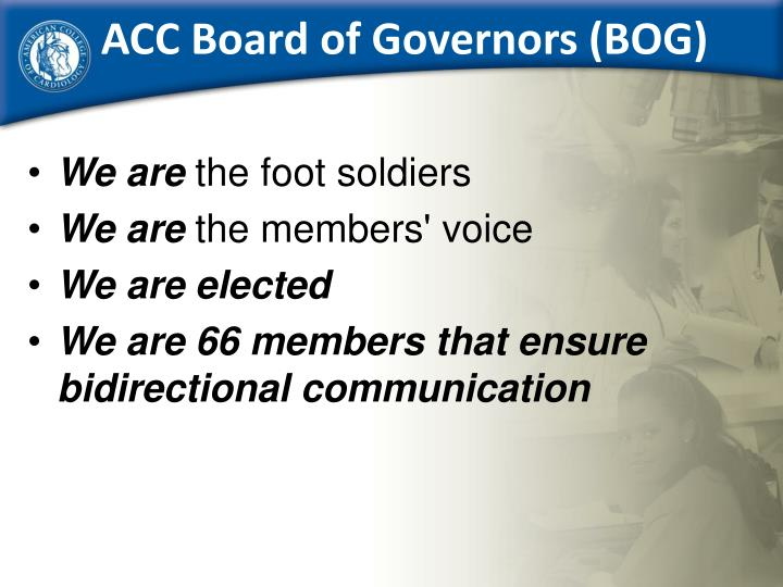 Acc board of governors bog