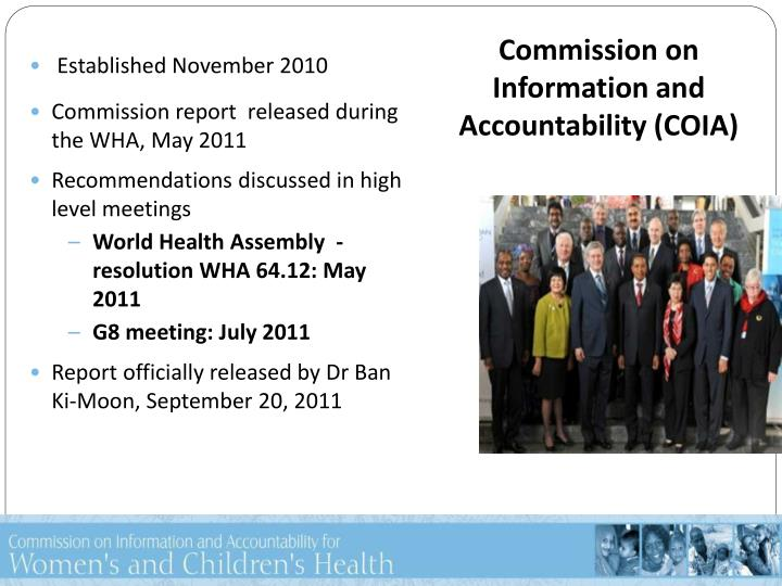 Commission on information and accountability coia