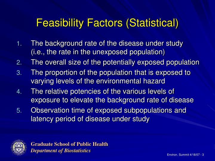 Feasibility factors statistical