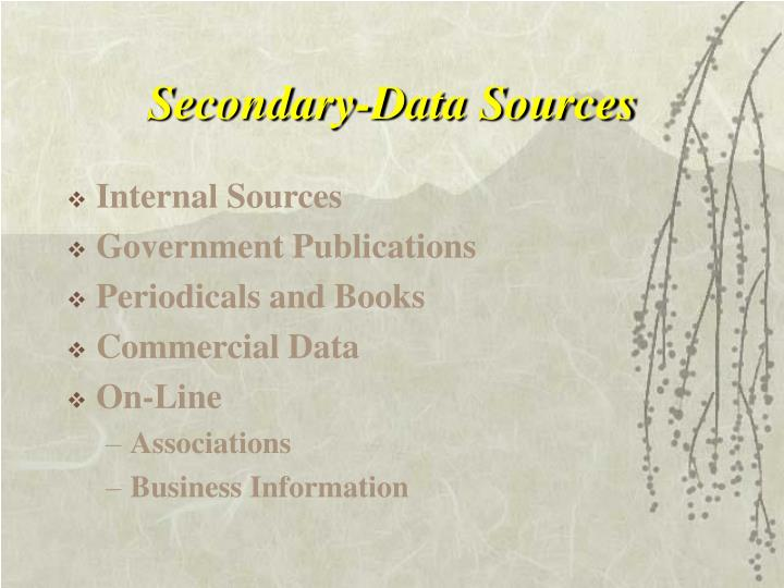 Secondary-Data Sources