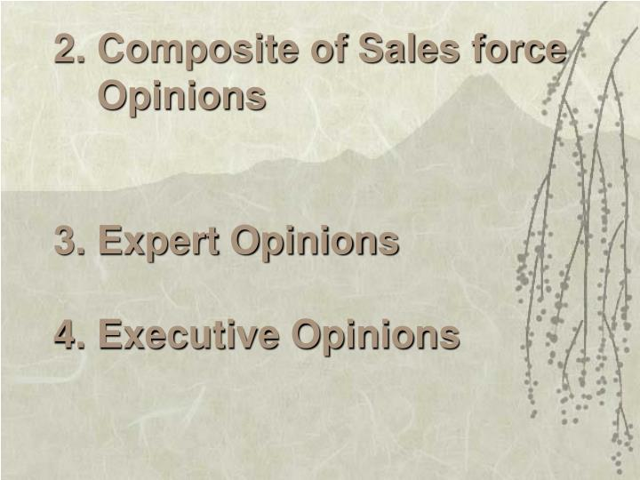2. Composite of Sales force