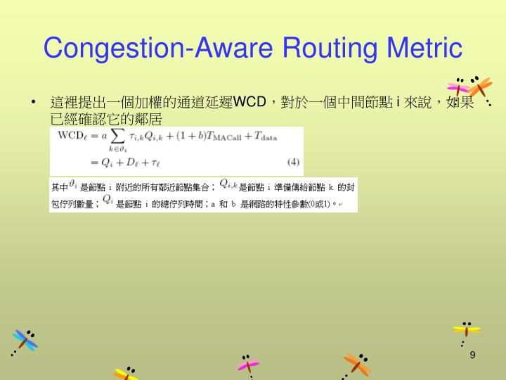 Congestion-Aware Routing Metric