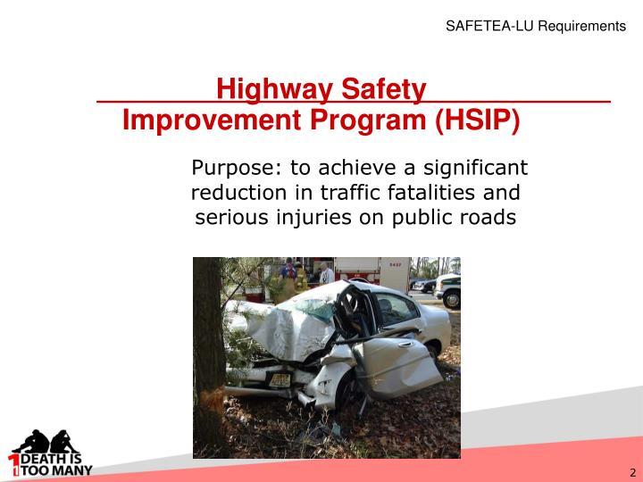 Highway safety improvement program hsip