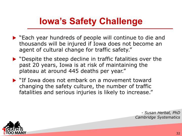 Iowa's Safety Challenge