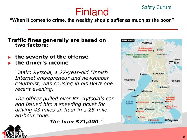 Traffic fines generally are based on