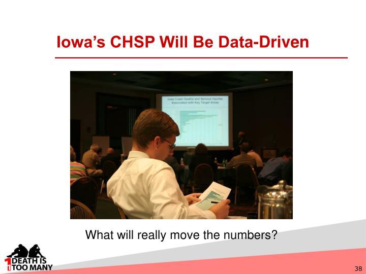 Iowa's CHSP Will Be Data-Driven