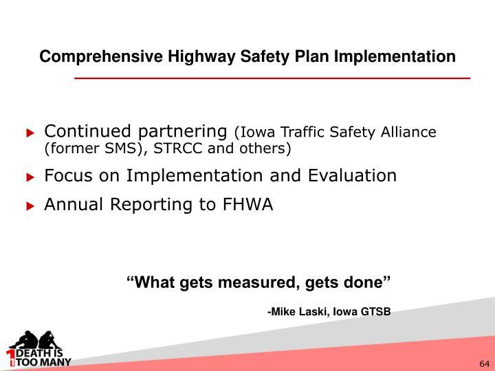 Comprehensive Highway Safety Plan Implementation
