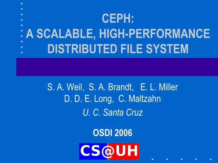 ceph a scalable high performance distributed file system