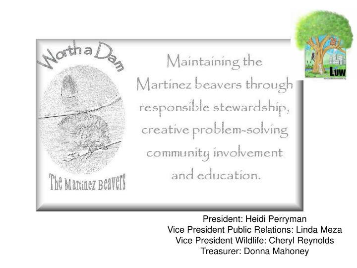 President: Heidi Perryman