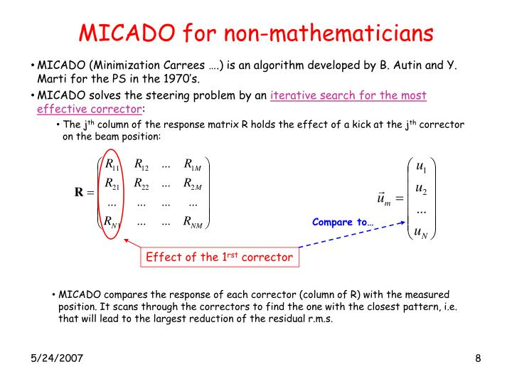 MICADO for non-mathematicians