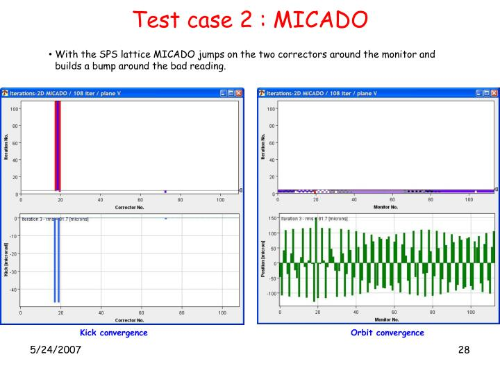 Test case 2 : MICADO