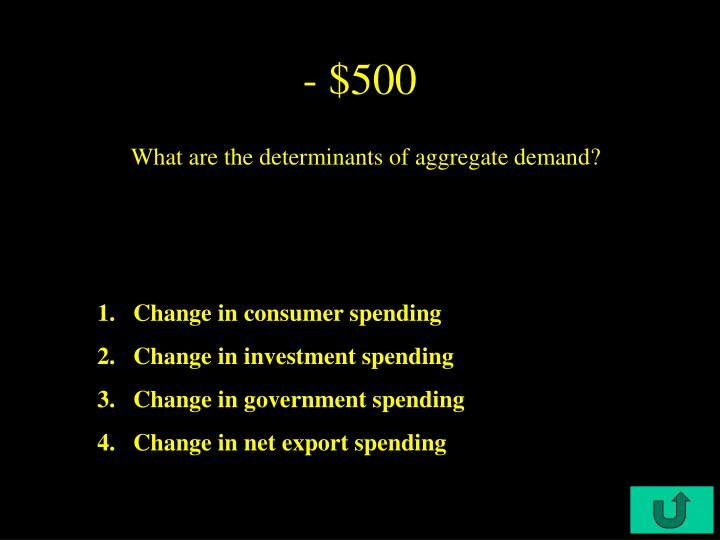 - $500