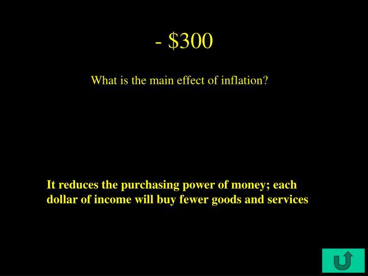 - $300