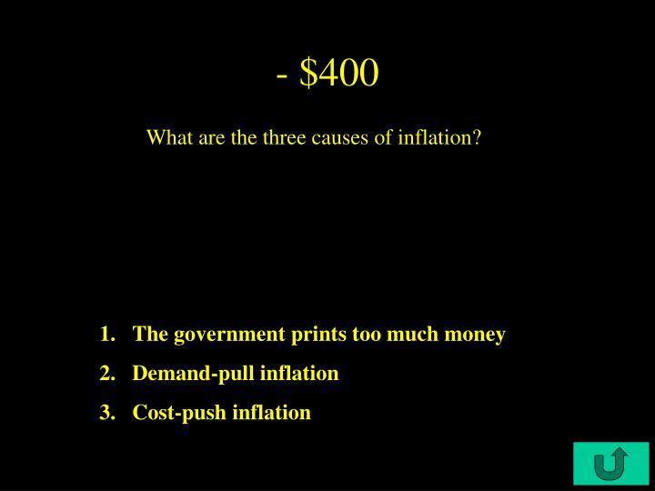- $400