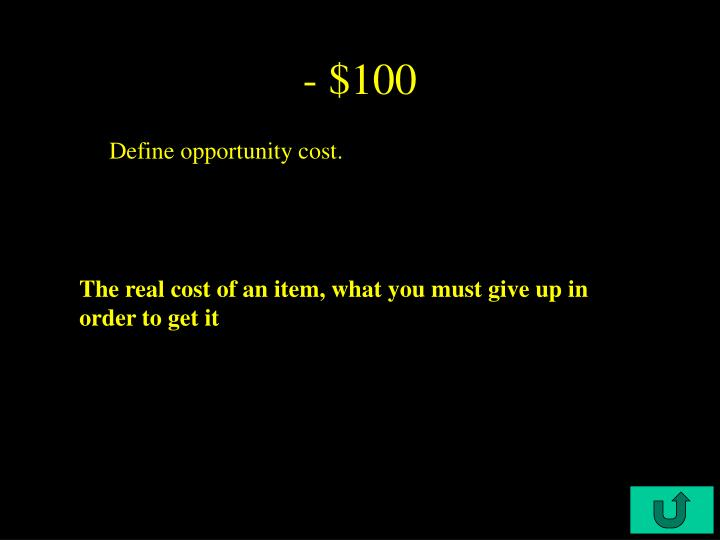 - $100