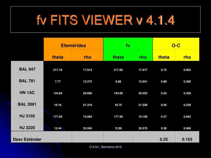 fv FITS VIEWER v 4.1.4