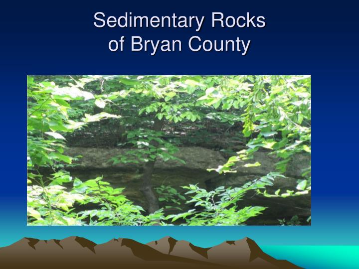 Sedimentary rocks of bryan county
