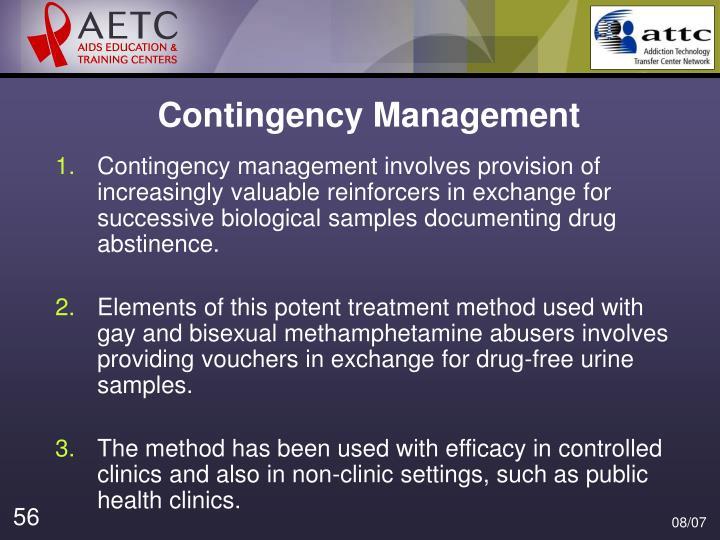 Contingency Management