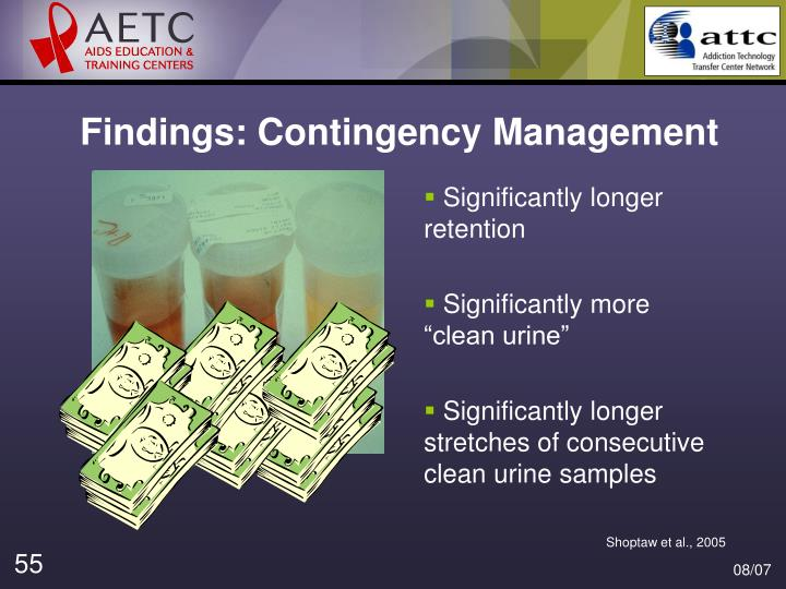 Findings: Contingency Management