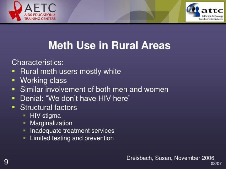 Meth Use in Rural Areas