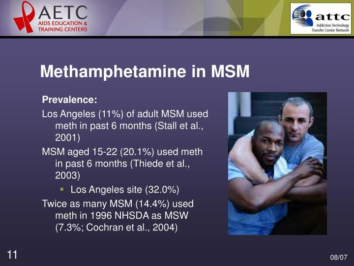 Methamphetamine in MSM